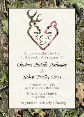 Camo Wedding Invitations Ebay Camo Invitation Templates