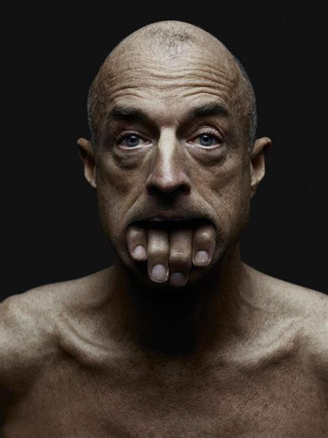hybrid human faces  creepy images