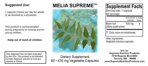 melia supreme melia supreme supplement neem leaf capsules healthy
