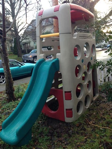 step 2 play structure with slide step 2 quot big climber quot with slide city
