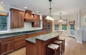 exceptional Tile Top Kitchen Island #2: traditional-one-wall-kitchen-with-breakfast-bar-island.jpg