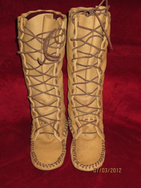 mens knee high moccasin boots size 8 s knee hi boot moccasin by laindia craftsy