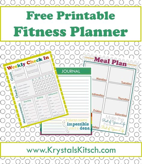 free printable planner 2015 pinterest free fitness journal meal planning printables