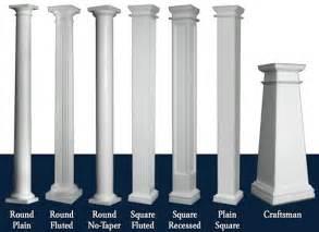 Home Exterior Design With Pillars Hb Amp G Permacast Columns Fiberglass Columns I Elite Trimworks