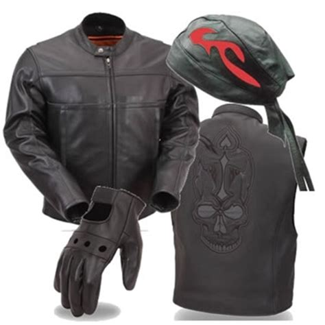 Leather Motorcycle Gear Apparel