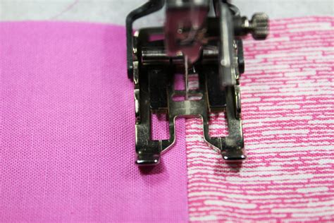 how to use a quilting presser foot stitch in the ditch