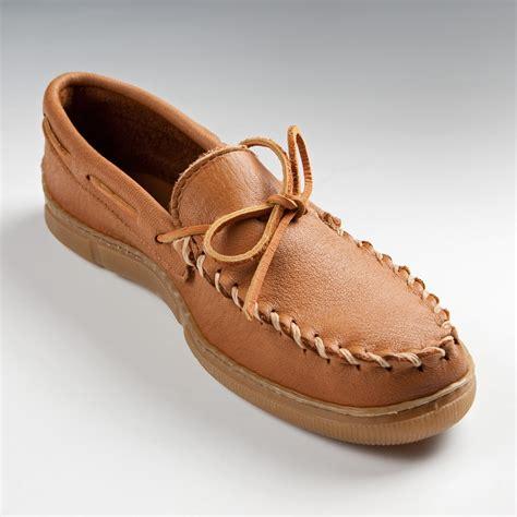 moosehide slippers minnetonka mens moosehide classic moccasins mens