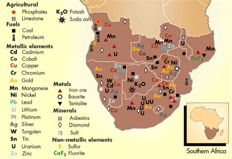 africa map of resources africa s resources