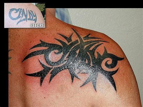 shoulder cover up tattoos for men black cover up black tribal cover up on shoulder
