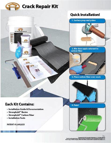 basement repair kit radonseal d i y foundation repair kit nenpof
