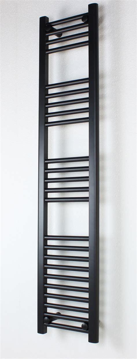 black heated towel rails flat 400mm wide 1000mm high