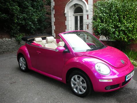 Pink Beetle Bug Car