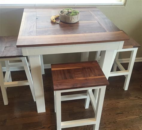 Table Height Stools Kitchen Bar Height Table With Stools Do It Yourself Home Projects From White Kitchen Tutorials