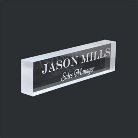 Desk Name Bar by Acrylic Name Plate Desk Bar Free Personalized Nameplate