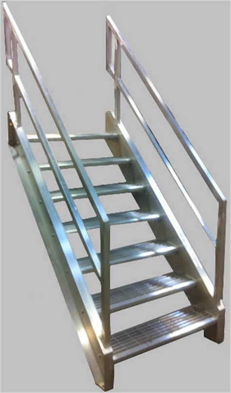 Aluminium Stairs Design Welded Aluminum Prefab Stairways Galvanized Stairs Industrial Stairs Metal Stairs Open Tread