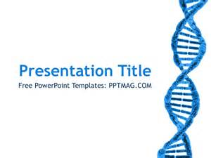 free biology powerpoint templates free dna powerpoint template pptmag