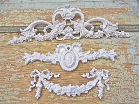 shabby chic rose floral furniture applique lot wholesale