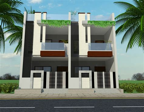row house plan and elevation row house ground first floor elevation modern house elevation pinterest