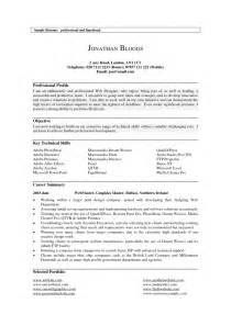 Sample Resume Profile Summary examples of resumes resume career summary professional samples 87