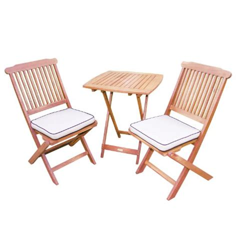 Square Bistro Chair Cushions Black Friday Outdoor Interiors Eucalyptus 3 Square Bistro Outdoor Furniture Set Includes