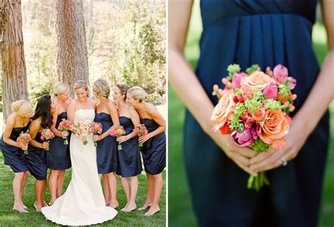 navy and coral wedding ideas inspiration board coral and navy blue wedding opinion