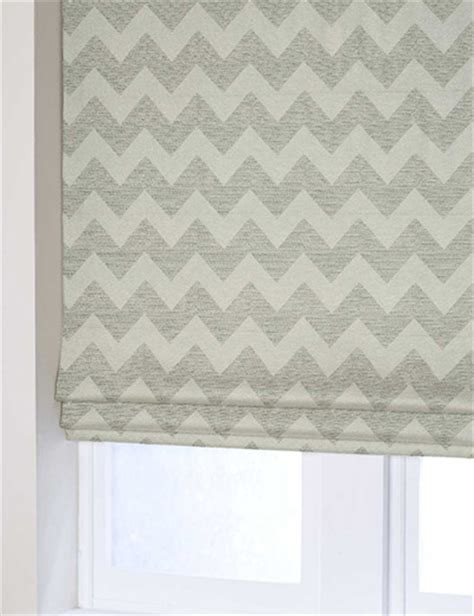 zig zag pattern roller blind curtain plush chenille zig zag natural next made to measure