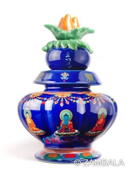 medicine buddha blessed treasure vase dharma items