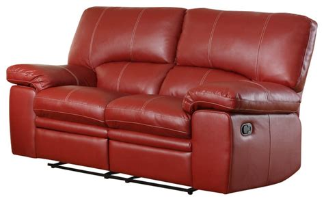 red reclining loveseat homelegance kendrick reclining loveseat in red leather