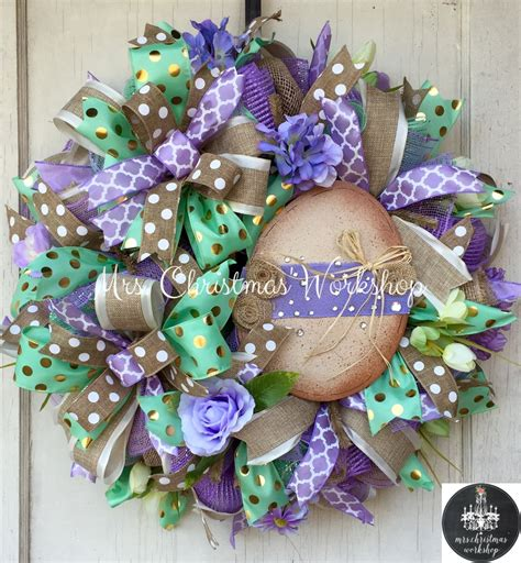 easter wreath easter wreath burlap easter deco mesh wreath easter egg wreath