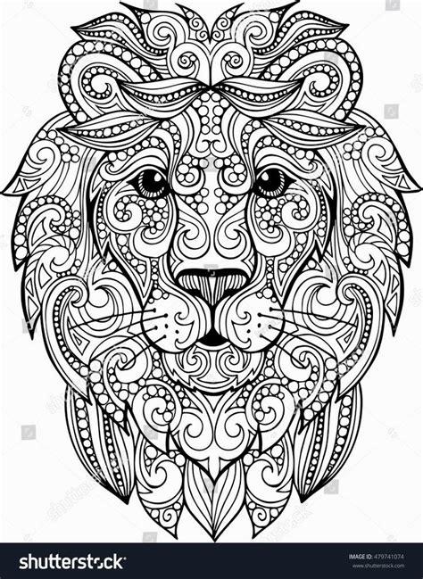 hard lion coloring pages neu ausmalbilder f 252 r erwachsene entspannung konzept