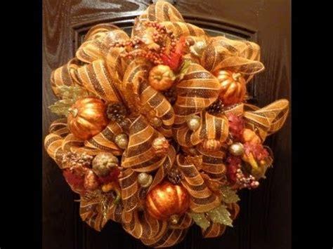 geo or deco mesh fall wreath youtube