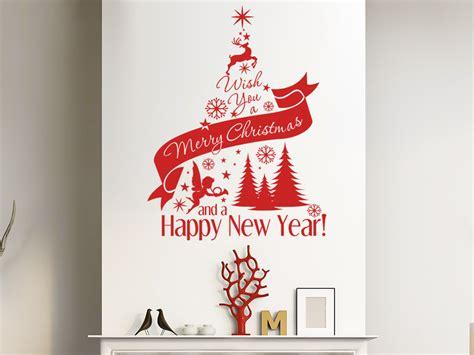wandtattoo weihnachtsbaum merry christmas von wandtattoo de