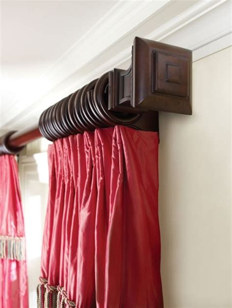 Design For Wood Curtain Rods Ideas Make Your Curtains Look Amazing With A Decorative Curtain Rod