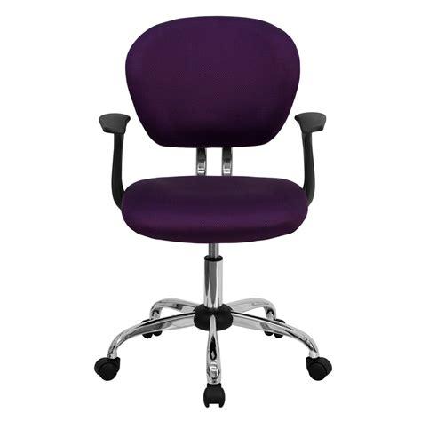 Flash Furniture Mid Back Purple Mesh Swivel Task Chair Purple Swivel Chair