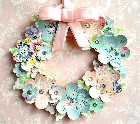 vintage wallpaper craft ideas vintage wallpaper flower wreath playing with paper