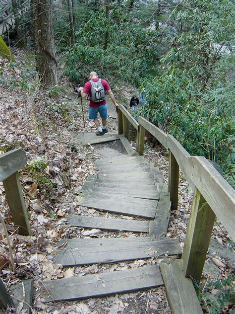 south mountain trail hiking in south mountains state park north carolina