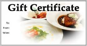 Dinner Certificate Template Free by Gift Template Select A Gift Certificate Template To