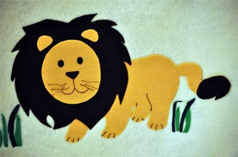 felt pattern lion nice lion made out of felt no pattern pin the tail on