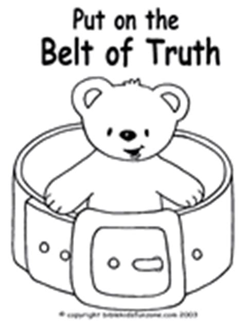 coloring belt of truth activity coloring pages