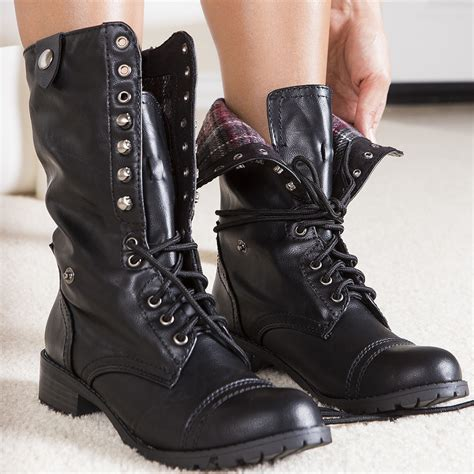 black combat boots for black folded combat boots shoes mod