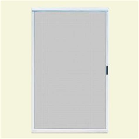 Sliding Patio Screen Doors Home Depot by Unique Home Designs 48 In X 80 In Ultimate White Metal
