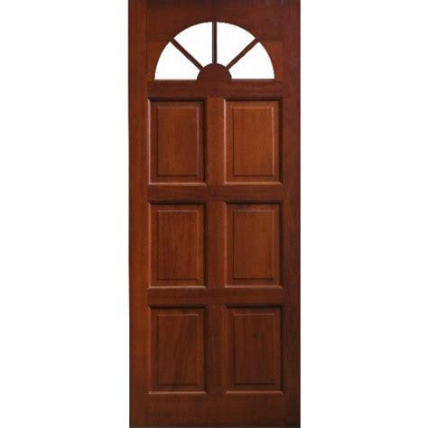 Carolina Front Door External Door Mahogany Timber Solid Door Fanlight Glass