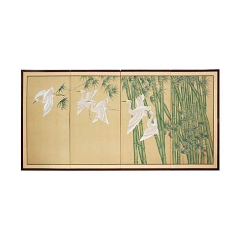 Japanese Silk Paintings :: Bamboo Escape
