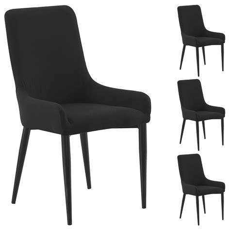 stuhl stoffbezug 4er set stuhl stoffbezug schwarz mobilia24