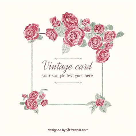 download wallpaper bunga vintage hand painted vintage card vector free download