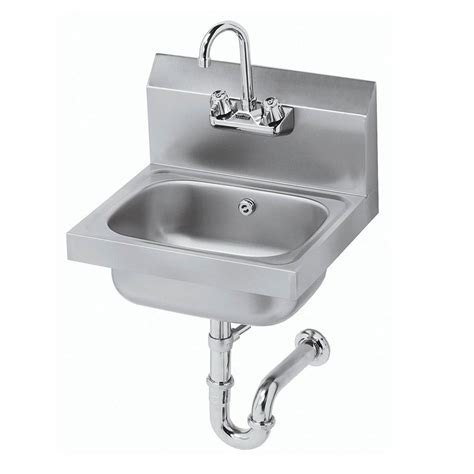 wall mounted commercial sink faucet krowne hs 4 wall mount commercial hand sink w 12 5 quot l x 9
