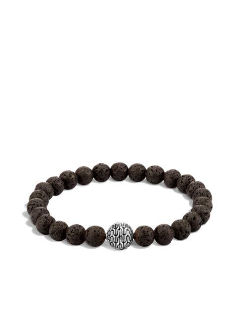 beaded chain bracelet hardy classic chain large beaded bracelet in black