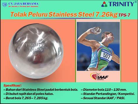 Alat Olahraga Tolak Peluru tolak peluru stainless steel 7 26kg tps 7 put agen alat olahraga