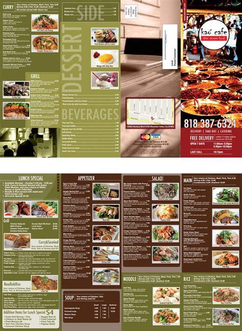 thai restaurant brochures design  printing brochures
