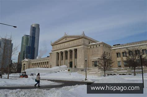 fotos chicago invierno frente del museo field de ciencias naturales enero 2014